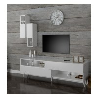 طاولة تلفزيون SHTV02 أبيض