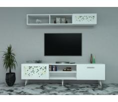 طاولة تلفزيون SHTV33G ابيض