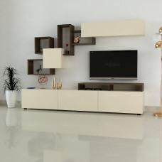 طاولة تلفزيون Elit2  بني وبيج