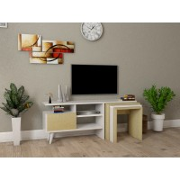طاولة تلفزيون Nature2 مع 3 طاولات خدمة