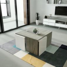 طاولة وسط SHCT49 ابيض ورمادي