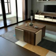 طاولة وسط SHCT49 بني وبيج