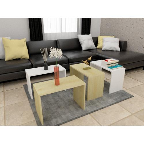 طاولة وسط SHCT07 لونين 4 قطع