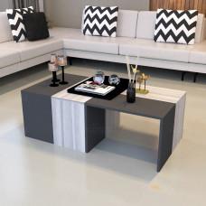 طاولة وسط SHCT07 ابيض ورمادي 4 قطع