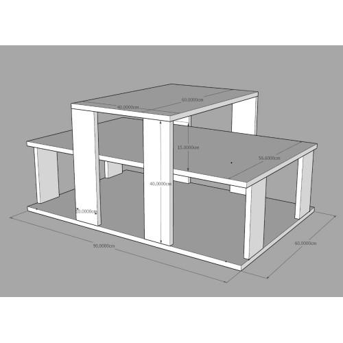 طاولة وسط SHCT27 ابيض