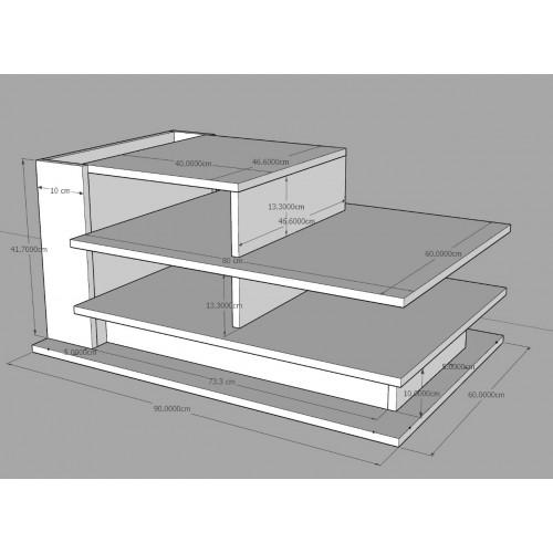 طاولة وسط SHCT28 بني وبيج