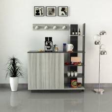 ركن وطاولة قهوة SHRC06 ابيض ورمادي
