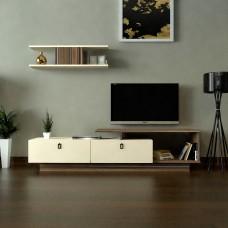 طاولة تلفزيون SHTV01 بني وبيج