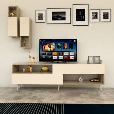 طاولة تلفزيون SHTV02 خشبي وبيج