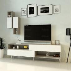 طاولة تلفزيون SHTV02 ابيض ورمادي