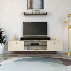 طاولة تلفزيون SHTV03 بني وبيج