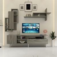 طاولة تلفزيون SHTV17 رمادي