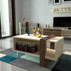 طاولة وسط SHCT19 بني وبيج