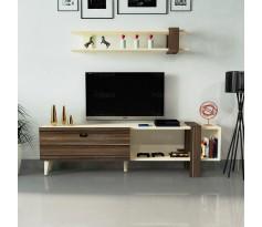 طاولة تلفزيون SHTV19 بني وبيج