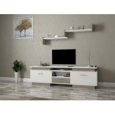 طاولة تلفزيون SHTV37 ابيض ورمادي