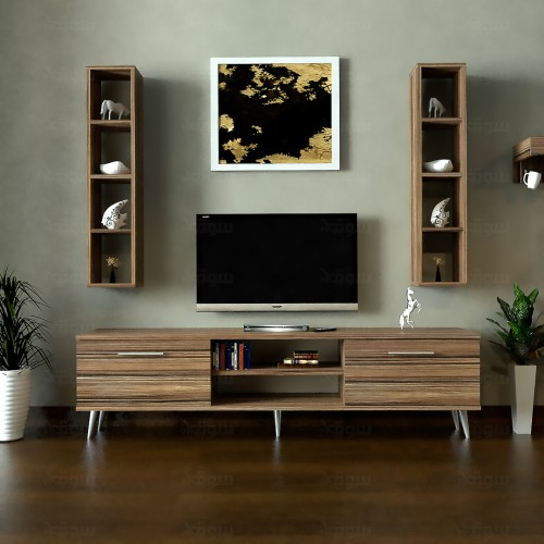 طاولة تلفزيون SHTV36 بني