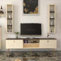 طاولة تلفزيون SHTV36 بني وبيج