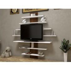 طاولة تلفزيون SHTV46 ابيض وبني
