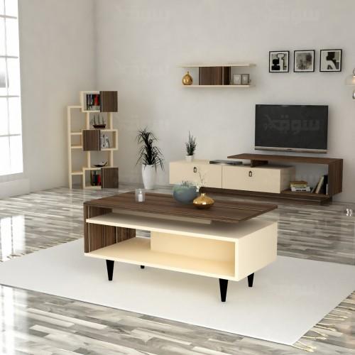 طقم طاولات SH01 بني وبيج