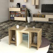 طاولة وسط SHCT16 خشبي وبيج