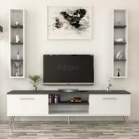 طاولة تلفزيون SHTV36 ابيض رمادي