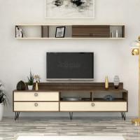 طاولة تلفزيون SHTV49 بني وبيج