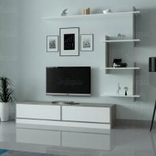 طاولة تلفزيون ahenk ابيض ورمادي