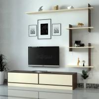 طاولة تلفزيون ahenk بني وبيج