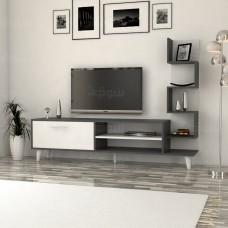 طاولة تلفزيون Ceren ابيض ورمادي