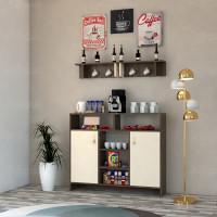 ركن وطاولة قهوة SHRC02 بني وبيج