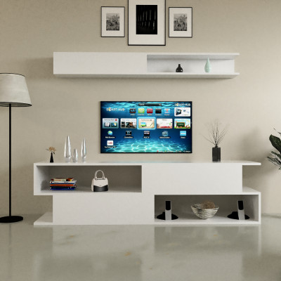 طاولة تلفزيون SHTV26 ابيض
