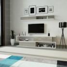 طاولة تلفزيون SHTV26 ابيض ورمادي