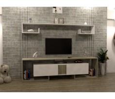 طاولة تلفزيون SHTV34 ابيض ورمادي
