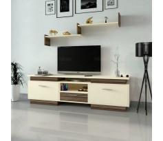 طاولة تلفزيون SHTV37 بني وبيج