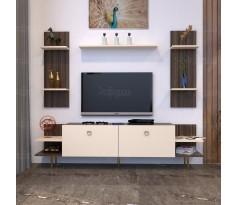طاولة تلفزيون SHTV51 بني وبيج
